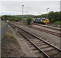 SO1107 : Class 37 diesel-electric locomotive in sidings, Rhymney by Jaggery