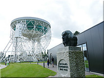 SJ7971 : Bust of Nicolaus Copernicus at Jodrell Bank by Stephen Craven