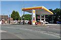 SJ5299 : Shell Petrol Station, Billinge by David Dixon
