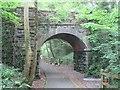 SH5968 : Old railway bridge, Felin-hen by Meirion