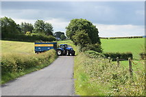H4178 : A tractor enters Castletown Road by Kenneth  Allen