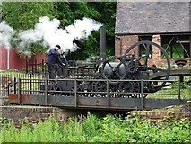 SJ6903 : Replica of Trevithick's steam locomotive by Philip Halling