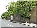 SE2040 : Former railway bridge abutment, Henshaw Lane, Yeadon by Stephen Craven