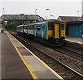 ST1597 : Penarth train at platform 1, Pengam station by Jaggery
