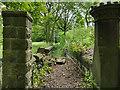 SE2038 : Overgrown path alongside Buckstone Hall by Stephen Craven