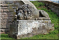 NT6126 : A lion sculpture at the Monteath Mausoleum by Walter Baxter
