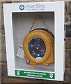 SO1107 : AED on Rhymney railway station by Jaggery