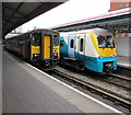 SS6593 : Two dmus in Swansea railway station by Jaggery
