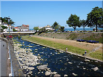 SS7249 : The Lyn River flows towards the sea by John Lucas