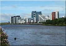 NS5566 : Glasgow Harbour Terraces by Richard Sutcliffe