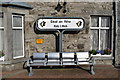 G2418 : Seats and station sign, Ballina by Kenneth  Allen