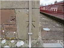 NX4355 : Ordnance Survey Cut Mark by Peter Wood