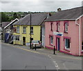 SN3040 : Pink and yellow alongside the B4571, Adpar, Ceredigion by Jaggery