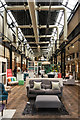 TQ3183 : Interior of former tram shed/electricity transformer station by Ian Capper