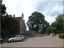 SU3521 : Pedestrians near the abbey by Basher Eyre