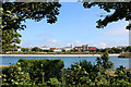 SD3317 : Looking across Marine Lake to Southport by Chris Heaton