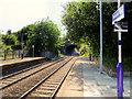 SD5503 : Pemberton Railway Station (view east) by David Dixon