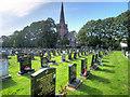 SD5503 : St Matthew's Cemetery and Church, Highfield by David Dixon