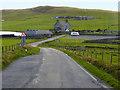 HU4243 : B9074 south of Veensgarth by David Dixon