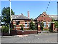 NZ2261 : Derelict school building by Oliver Dixon
