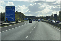 TL4157 : M11, Southbound Exit at Junction 12 by David Dixon
