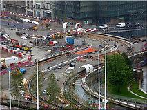SP0686 : Birmingham - tramway construction by Chris Allen