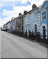 SN3859 : Colourful houses, Hill Street, New Quay by Jaggery