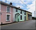 SN3859 : Pink and green, Hill Street, New Quay by Jaggery