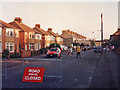 TL4656 : Cowper Road closed for a street party, 1990 by John Sutton
