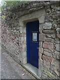 SX9292 : Stone door surround, Exeter Cathedral School by David Smith