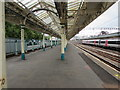 ST3088 : Canopy over platform 1, Newport railway station by Jaggery