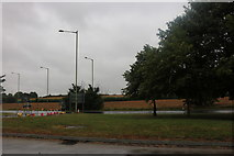 TM0557 : Roundabout on Needham Road, Stowmarket by David Howard