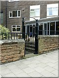 SK5640 : Gateway at St Andrew's United Reformed Church by Alan Murray-Rust