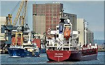 "J3576 : The ""Oraness"", Belfast harbour (August 2019) by Albert Bridge"