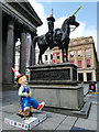 NS5965 : Oor Wullie and Wellington, Royal Exchange Square by Thomas Nugent