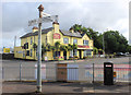 ST7848 : Pub and Signpost by Des Blenkinsopp