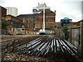 NS5965 : Piledriver and piles by Richard Sutcliffe