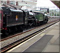 ST3088 : Black 5 passing through Newport station by Jaggery