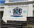 SX4753 : Coat of Arms dated 1891 above Hoe Road, Plymouth by Jaggery