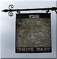 TL0516 : Sign for the former White Hart public house, Markyate by JThomas