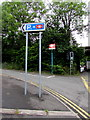 ST1597 : Signs on the approach to Pengam railway station by Jaggery