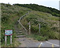 NZ8512 : Cleveland Way ascending towards Sandsend Ness by Mat Fascione