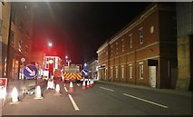 SK9770 : Roadworks on Rope Walk, Lincoln by David Howard
