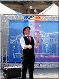 NT2573 : Edinburgh Fringe, Juggler on The Mound by David Dixon