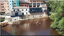 NZ2742 : Boat hire by Elvet Bridge, Durham by Gordon Brown