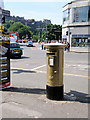 NT2573 : Chris Hoy's Gold Postbox on Hanover Street by David Dixon