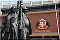 NZ3957 : A memorial statue at the Stadium of Light by Steve Daniels