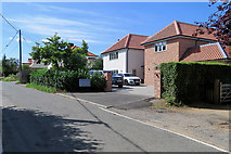 TM2844 : Waldringfield: new houses on Cliff Road by John Sutton