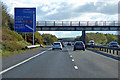 TL4647 : Bridge over the Southbound M11 near Whittlesford by David Dixon