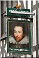 SJ8498 : Sign of The Shakespeare by Gerald England